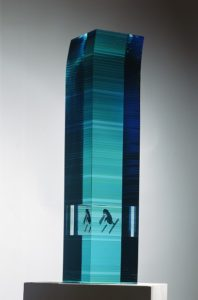 bohumil-elias-sr-inhabitant-1999-painted-and-glued-glass-97-cm-selling-in-our-contemporary-art-glass-gallery-los-angeles