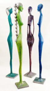 radek andrle figurative sculptures femme fatale, human size, contemporary fine art sculpture los angeles, presented by knupp gallery la