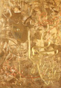 jiri-suhajek-obraz-zlaty-labyrint-komb-tech-na-platne-210x150-cm-na-prodej-v-prazske-galerii-ceskeho-umeni-s