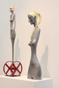 radek-andrle-metal-composite-sculptures-femme-fatale-the-guardian-girls-torso-exhibited-in-santa-monica-building-bridges-art-exchange
