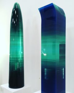 bohumil elias sr - glass sculptures ihnabitant, layered and painted glass, modern contemporary glass gallery los angeles