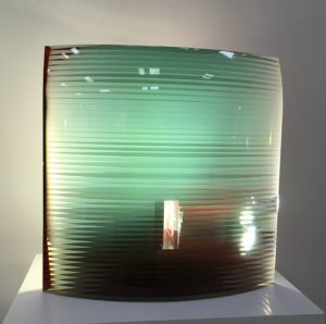 bohumil elias sr - inhabitant of red, layered contemporary glass los angeles