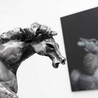 google-image-vaclav-rubeska-hammered-iron-and-bronze-animal-sculptures-horses-modern-contemporary-fine-art-sculpture-knupp-gallery-los-angeles