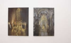 jakub-spanhel-paintings-chandelier-and-st-vitus-cathedral-exhibited-in-building-bridges-art-exchange-czech-in-la-2015
