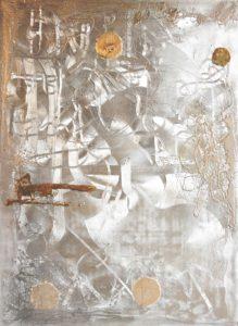 jiri-suhajek-stribrny-labyrint-obraz-kombinovanou-technikou-na-platne-182x132-cm-zlato-stribro-na-prodej-v-prazske-galerii-ceskeho-soucasneho-umeni