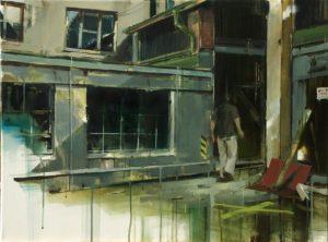 tomas spevak oil painting Parking Place, 23,5 x 31,5´´ (60 x 80 cm)