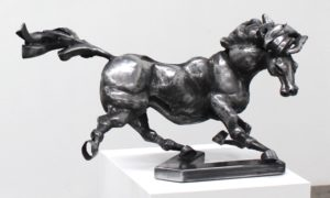 vaclav-rubeska-hammered-iron-sculpture-of-a-horse-knupp-gallery-los-angeles