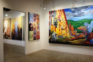 igor piacka solo exhibition ride a tiger, monumental figurative paintings, knupp gallery prague