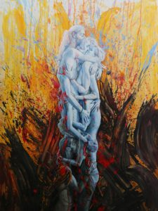 igor piacka acrylic figurative painting blues, presented by knupp gallery los angeles