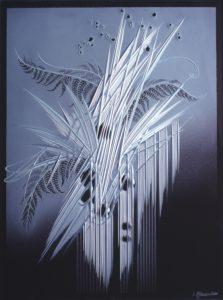 ivan-kolman-fern-80x60cm-2003-cut-glass-painting-presented-by-gallery-of-contemporary-art-glass
