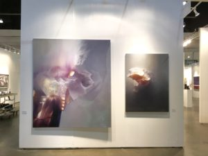jan uldrych abstract paintings at the la art show 2017 presented by knupp gallery los angeles
