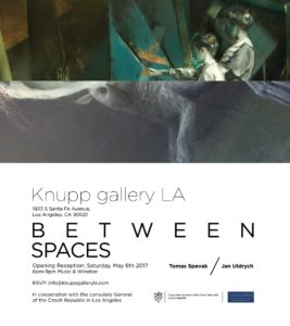 invitation tomas spevak and jan uldrych duo exhibition between spaces, knupp gallery los angeles, 2017, width 1000px